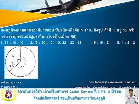 เฉลยข้อสอบ ช้างเผือก นายเรืออากาศ ปี 5ุ6 ข้อ 52 เรื่องแผนภูมิวงกลม