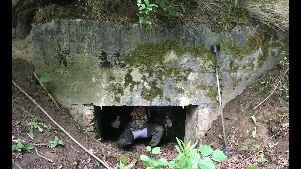 Коп по войне. Нашли ДОТ.  Bunker WW2 in forest. Kaliningrad region