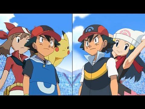 Pokémon Battle USUM: Ash And May Vs Ash And Dawn (Pokemon Hoenn Vs Sinnoh)