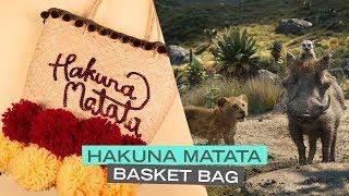 DIY Hakuna Matata Pom Pom Basket Bag | DIY by Disney Style