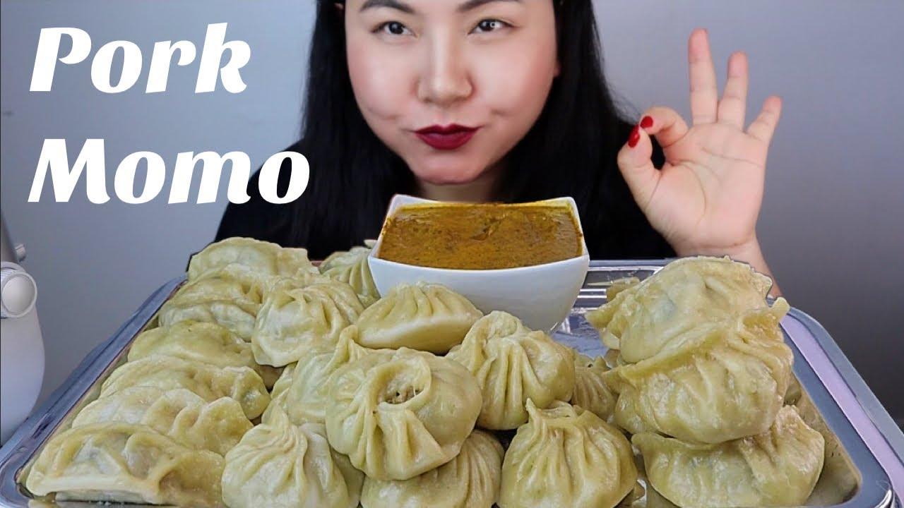 Download Pork momo /dumpling with tomato chutney MUKBANG/ASMR