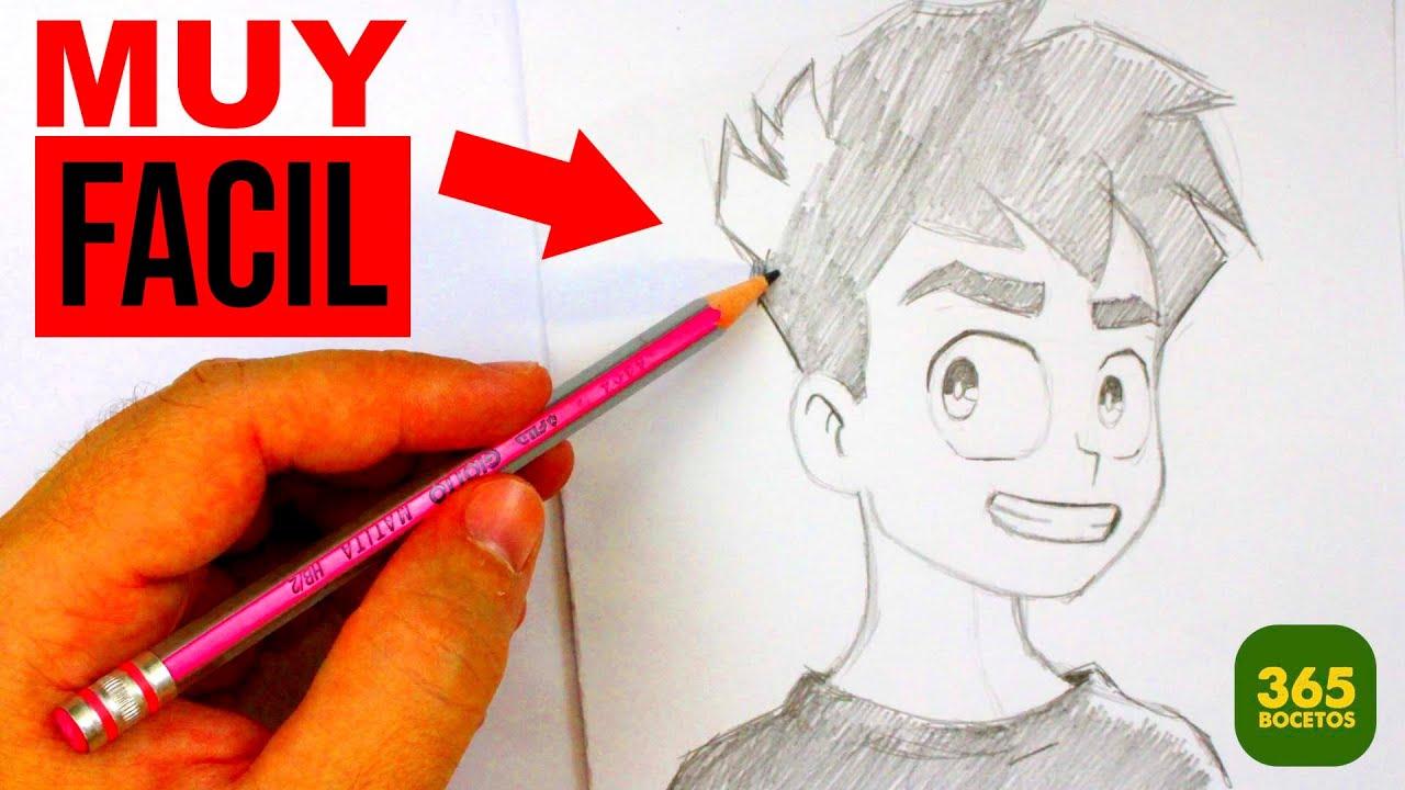 Como Dibujar Una Cara Anime Dibujos Faciles Dibujos Para Dibujar A Lápiz Con 365 Bocetos Youtube