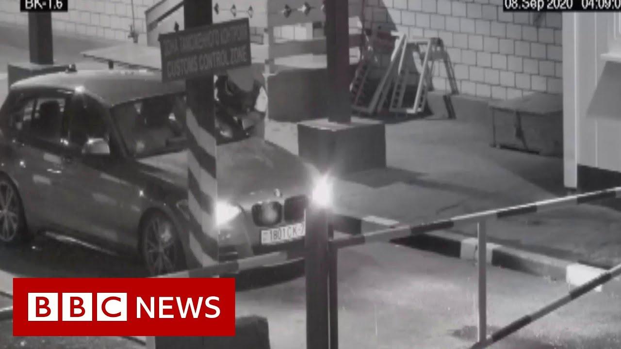 Belarus: Opposition figure 'climbed through car window' to avoid expulsion - BBC News