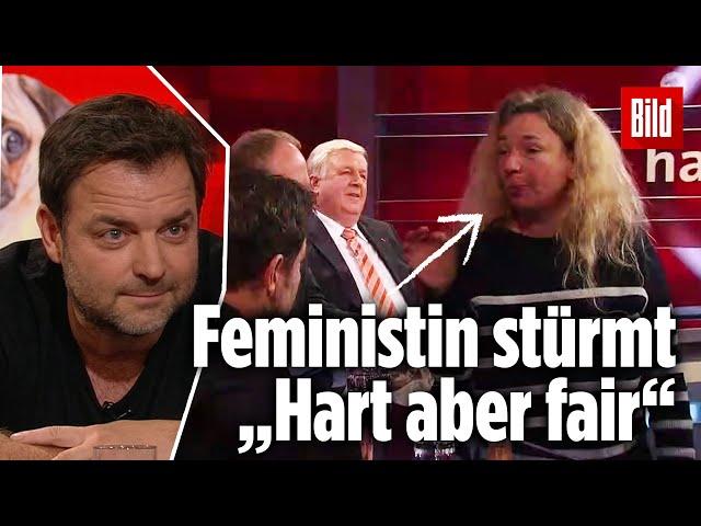 """""""Das ist respektlos!"""" – Feministin stürmt """"Hart aber fair"""" mitten in der Sendung"""