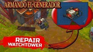 ARMANDO EL GENERADOR DE ELECTRICIDAD PARA ACTIVAR LA ATALAYA  LAST DAY ON EARTH ARIEL056