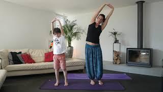 Yoga parent-enfant - quelques postures - 3ème partie