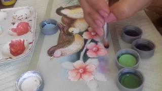 Pintura em tecido. Aprenda fazer o acabamento, fundo e as flores do campo