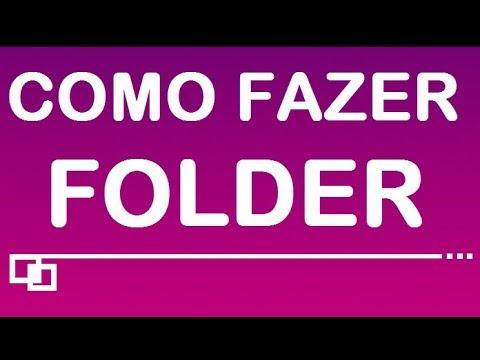 Como Fazer Folder.