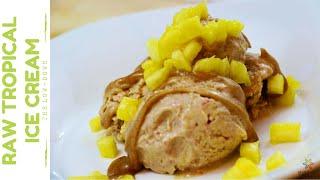 Refreshing Raw Tropical Ice Cream | Vegan Recipe