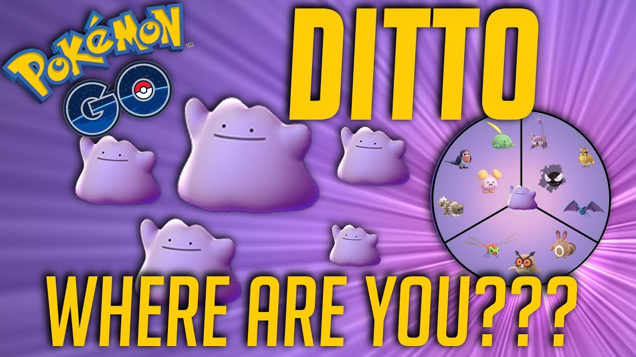 Catching Ditto In Roblox Pokemon Go Pokemon Trainer Tips How To Find Ditto For A Quest All Current Disguises Pokemon Go Youtube