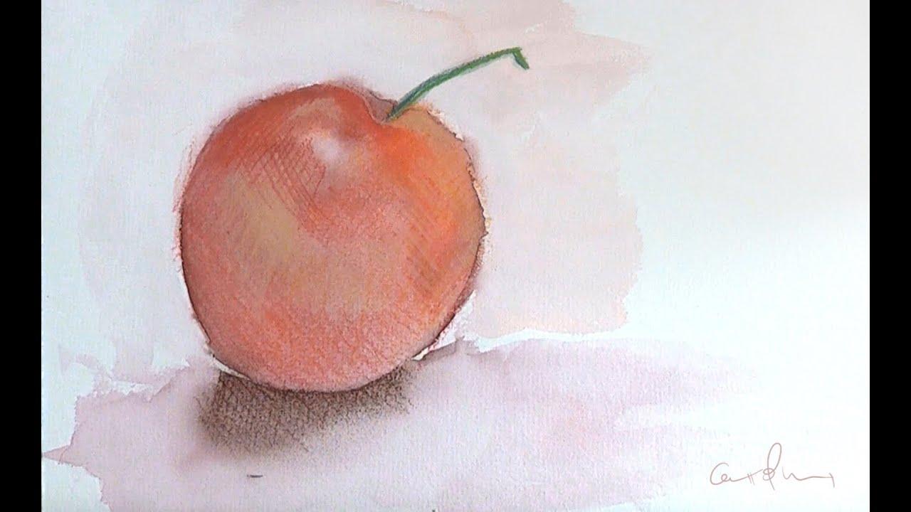 Fruta Ejercicio con acuarelas y lpices soft pastel  YouTube