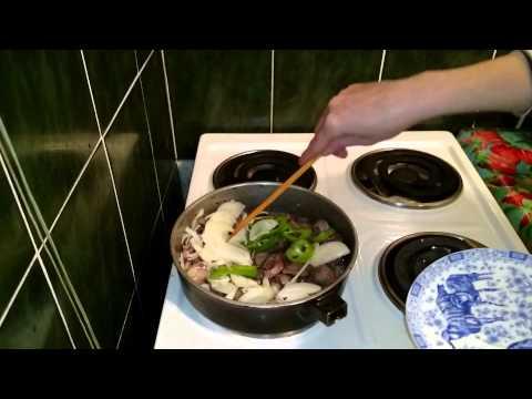 тушеные куриные желудки, рецепт приготовления