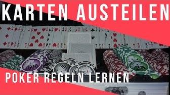 Poker Karten austeilen - Im Uhrzeigersinn und weitere Texas Holdem Regeln [lernen Video]