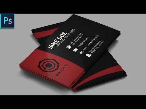 Cool Creative Business Card + PSD - Photoshop Tutorial