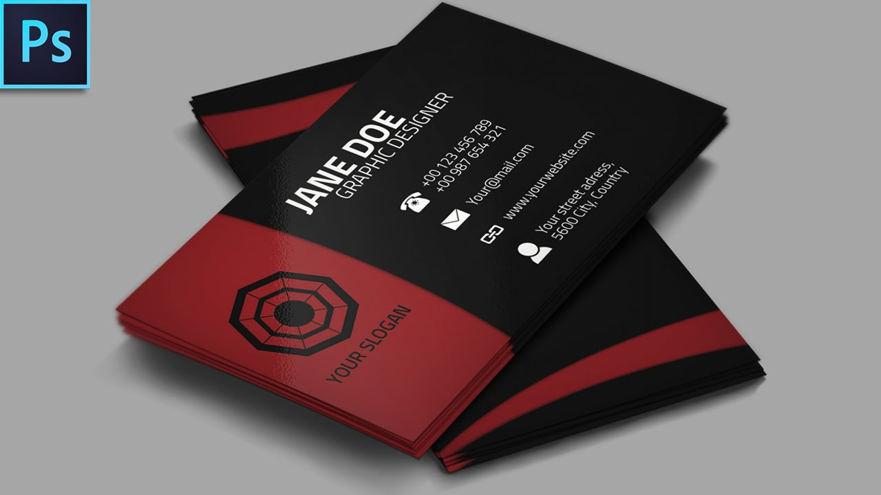 Cool Creative Business Card   PSD   Photoshop Tutorial   YouTube