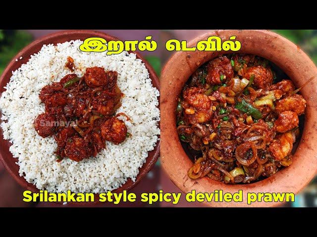 இறால் டெவில்    Srilankan style spicy deviled prawn in tamil   டெவில்டு பிரான்ஸ்
