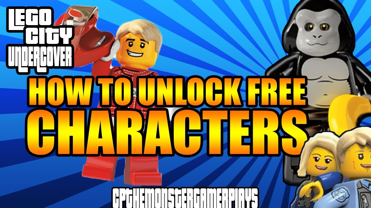 Lego City Undercover How To Unlock Free Characters Lego Character Codes Youtube