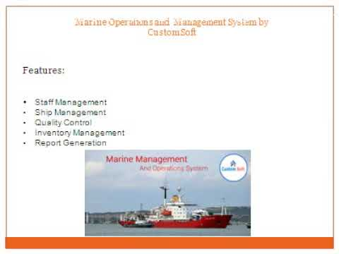 Marine Operations and Management system by CustomSoft