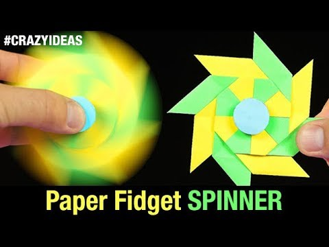 How to Make Paper Fidget Spinner Without Bearings at Home   DIY SPINNER With Paper   Crazy Ideas