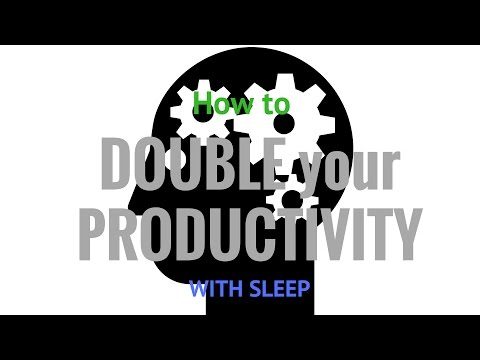 How to INCREASE your PRODUCTIVITY with Sleep, Rest, Naps - Success Habits (Audio)[2017]