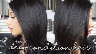 How to Deep Condition Hair At Home! Fast & Easy!