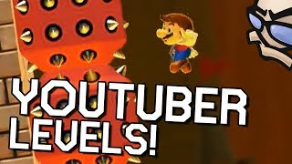 Jirard's a BULLY - YOUTUBER LEVELS! Ryukahr, The Completionist, Barb - Super Mario Maker 2