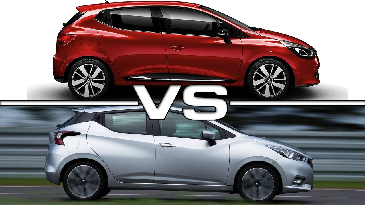 2017 Renault Clio vs 2018 Nissan Micra - YouTube