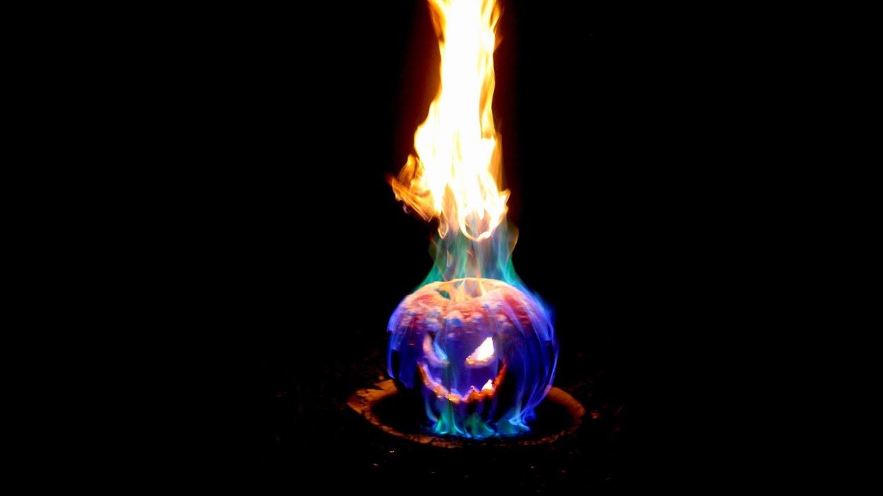 Flamethrower Pumpkin - Flaming Halloween Jack o Lantern - YouTube