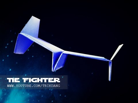 STAR WARS PAPER PLANE - How to make a paper airplane that FLIES - WARRANTY   Tie Fighter