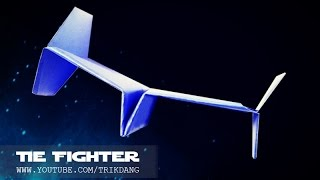 STAR WARS PAPER PLANE - How to make a paper airplane that FLIES - WARRANTY | Tie Fighter