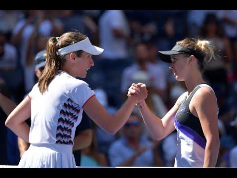 Elina Svitolina Vs Johanna Konta   US Open 2019 Quarterfinal Highlights