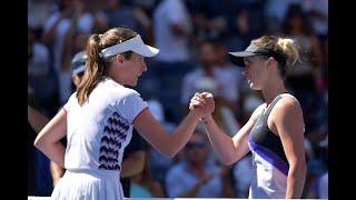Elina Svitolina vs Johanna Konta | US Open 2019 Quarter-Final Highlights