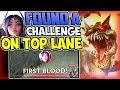 FOUND A CHALLENGE ON TOP LANE   KILL ME? BIG MISTAKE   Cho'Gath vs Irelia Season8 PBE Gameplay