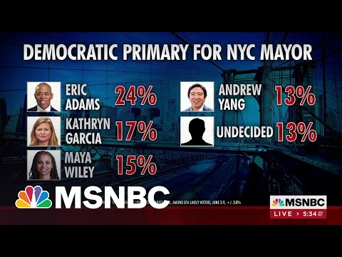 New Polling In Dem NYC Primary Shows Eric Adams Extending Lead   MSNBC