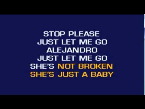 Lady Gaga - Alejandro ( Video Karaoke Lyrics Instrumental Choirs )