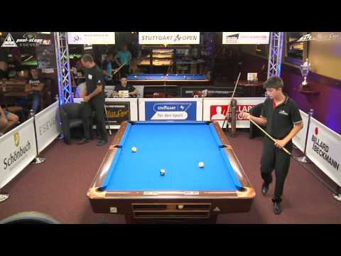 Stuttgart Open 2015, No. 07, Klaus Zobrekis vs. Ivan Galic, 10-Ball, Pool-Billard