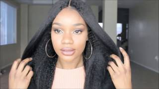 Another Affordable Wig!!! Kinky Straight Middle U Part Lace Front Wig | RpgHair.com