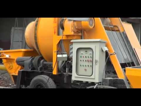 China Small Mobile Concrete Mixer With Pump