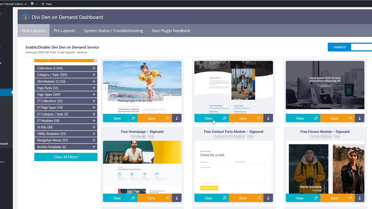 Free Divi Layout For A Web Design Studio S Homepage