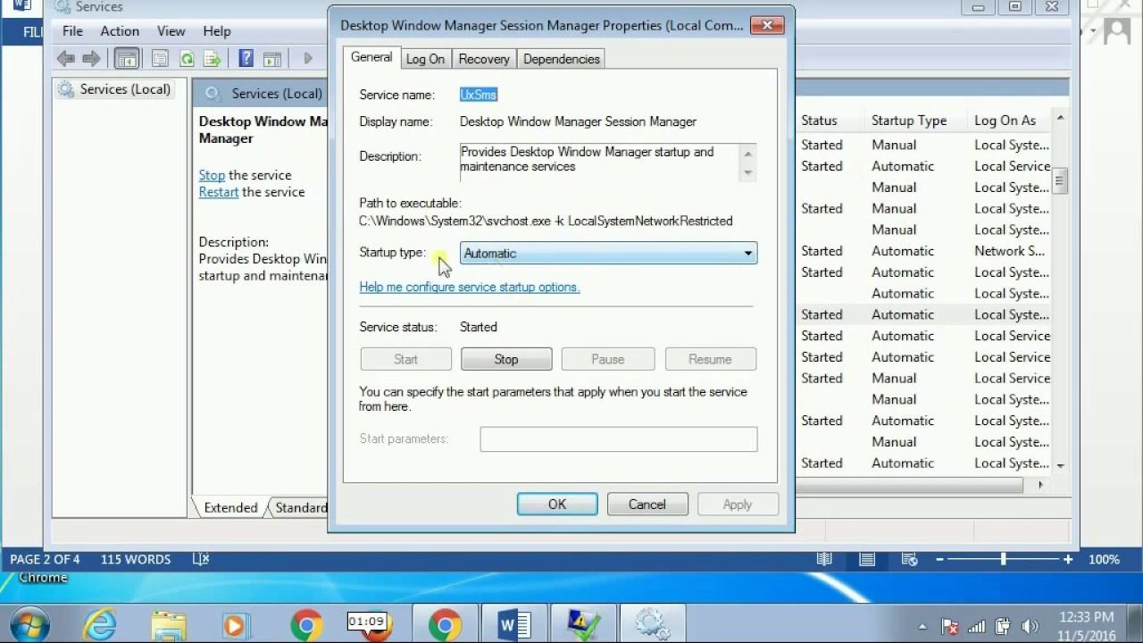 dwm.exe crashing windows 10