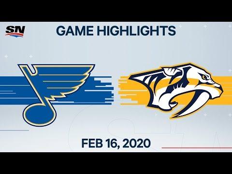 NHL Highlights   Blues Vs Predators – Feb. 16, 2020