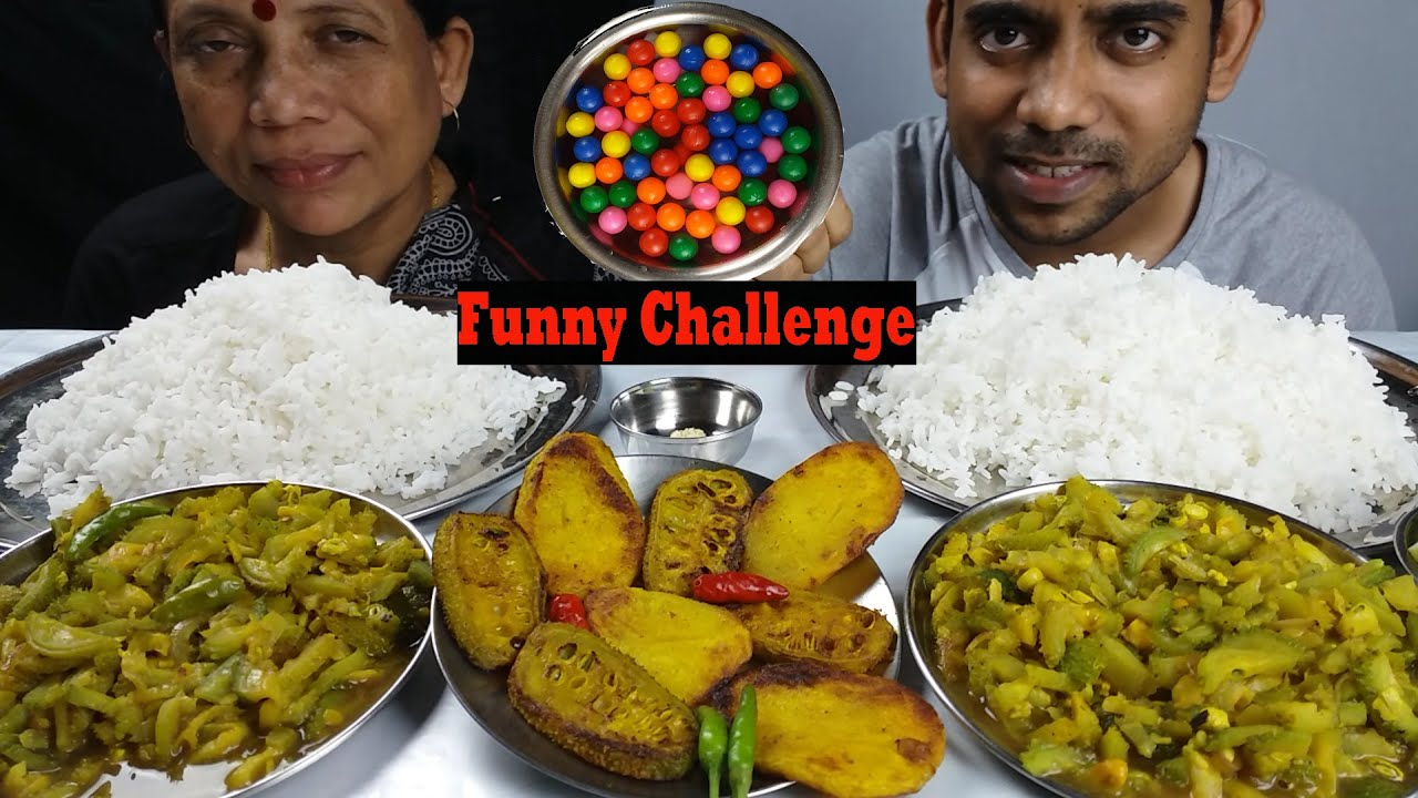 Food Eating Delicious Lunch Mukbang and Funny Challenge with My Mom