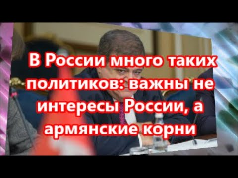 В России много таких политиков    важны не интересы России, а армянские корни