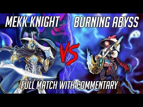 Yu-Gi-Oh! Pure Mekk-Knight Vs Phantom Knight Burning Abyss - Full Match! (June 2019)