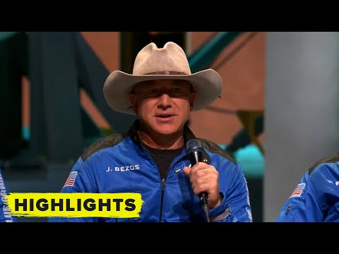 Watch Jeff Bezos speak during Blue Origin post-flight press conference