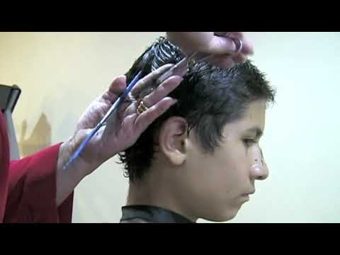 Como cortar el cello a un niño, How to cut short hair ...