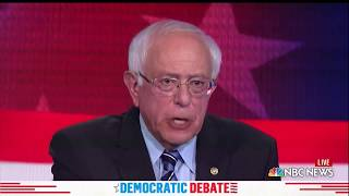 WATCH: Sanders says to beat Trump, 'expose him for the fraud he is'  | 2019 Democratic Debates