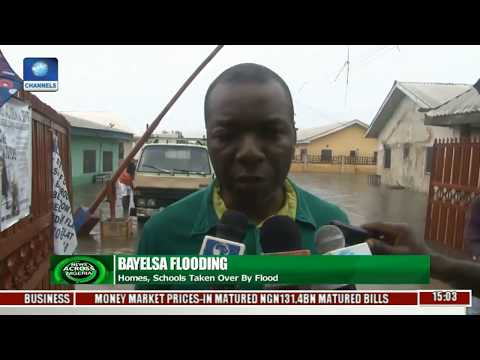 News Across Nigeria: Flood Takes Over Homes, Schools In Bayelsa