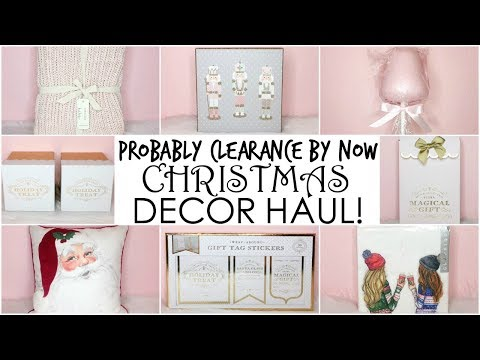GIRLY CHRISTMAS DECOR HAUL CLEARANCE  NOW ♡ HomeGoods, TJ Maxx, Marshalls, Hob Lob & JoAnns