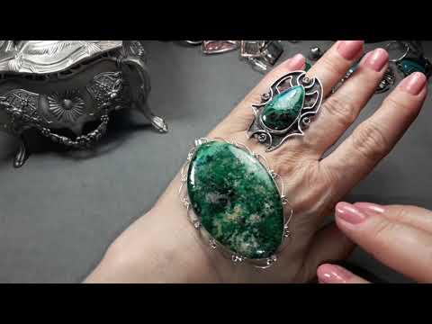 130. Великолепные серебряные украшения с натуральными камнями👌💖💍